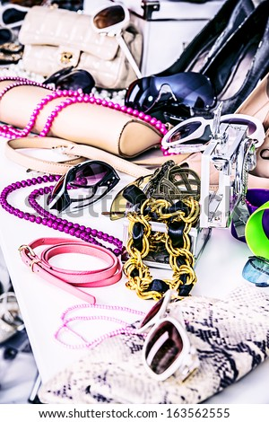 Shop of fashion accessories and footwear