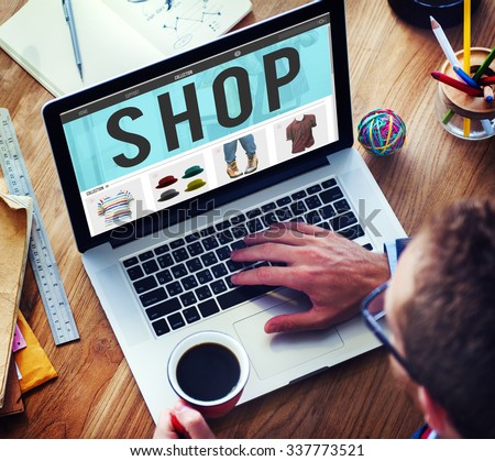 Shop Shopping Buying Paying Ordering Commercial Concept