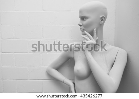Shutterstock shop window mannequin workshop