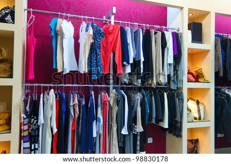 Female clothes in shop Photo by Paha_L