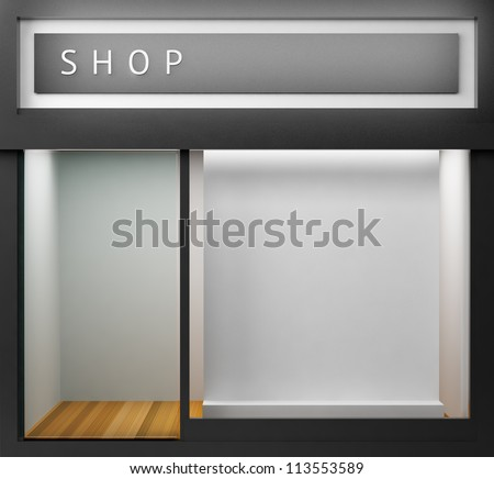 Shop with empty display