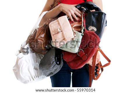 Shopaholic - stock photo