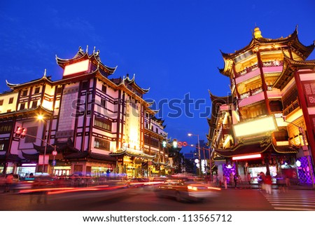 Shopping area in Shanghai, China