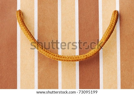 Shopping bag close up background