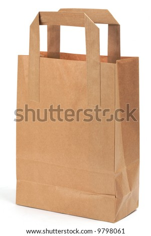 Shopping bag, isolated with copy space
