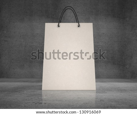shopping bag  on a concrete background