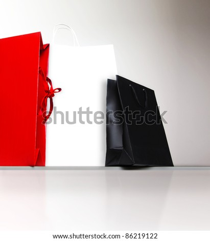 Shopping bags, gifts and presents, holiday shopping lifestyle, spending money concept