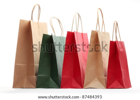 Shopping bags isolated on white background.