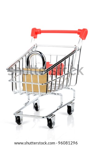 shopping cart and padlock