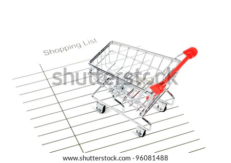 Shopping cart and shopping list
