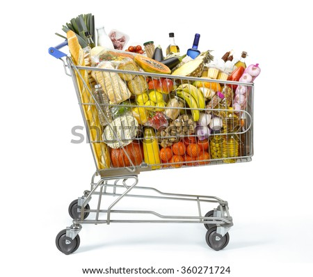 Shopping cart full of food #360271724