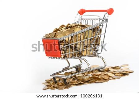 shopping cart full of money in the short term