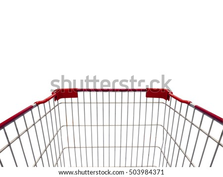 shopping cart isolate on white background #503984371