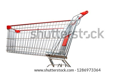 Shopping cart isolated on white background #1286973364