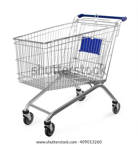 shopping cart isolated on white background #409013260