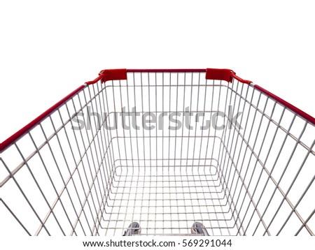 shopping cart isolated on white background #569291044