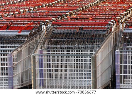 Shopping cart outside mall