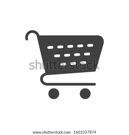Shopping cart, shopping cart icon.