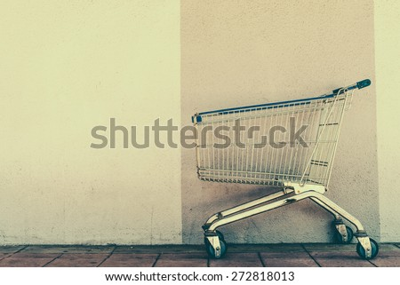 shopping cart   vintage effect...