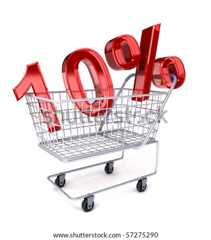 Shopping cart with 10%