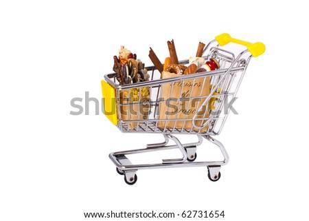 mini trolley with food