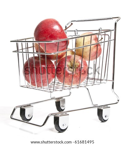 shopping Cart with apples