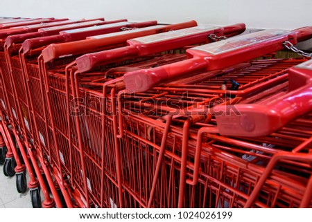 Shopping carts at the Mart
