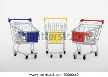 Shopping carts isolated on white background