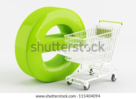 shopping carts  - the symbol of e-commerce