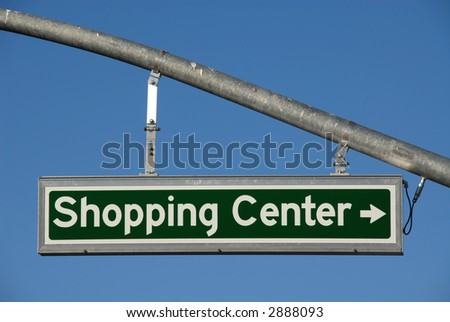 Shopping Center Right Turn lighted direction sign