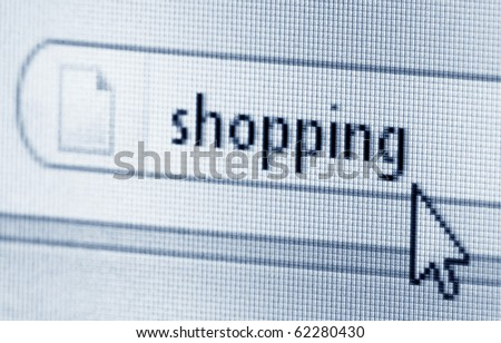 Shopping, computer screen