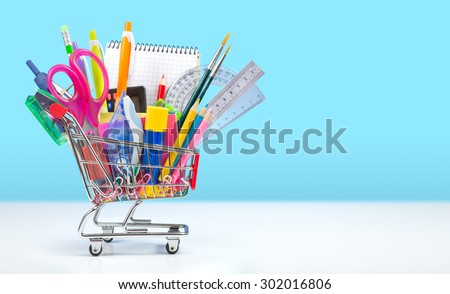 shopping for back to school  Foto stock ©