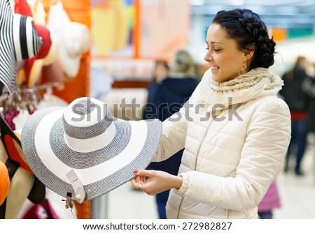 Shopping Girl Portrait. Beauty Woman in Shopping Mall. Shopper. Sales. Shopping Center