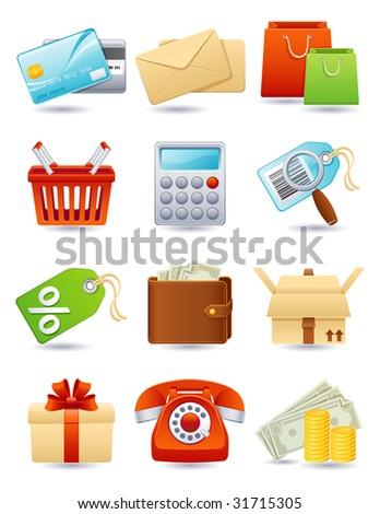 shopping icon set - raster version