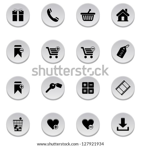 Shopping icons. Vector version also available in gallery. - stock photo