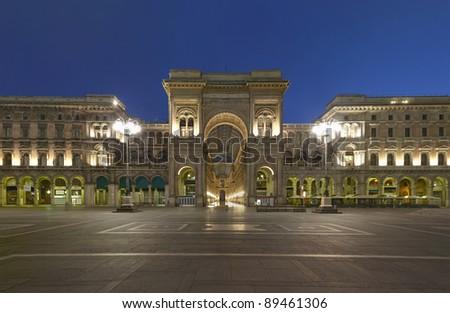 Shopping in Milan, Vittorio Emanuele II gallery, Italy