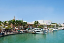 Shopping mall at Miami's waterfront