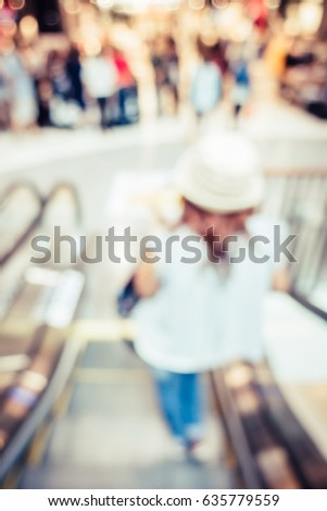 shopping mall staircase with...