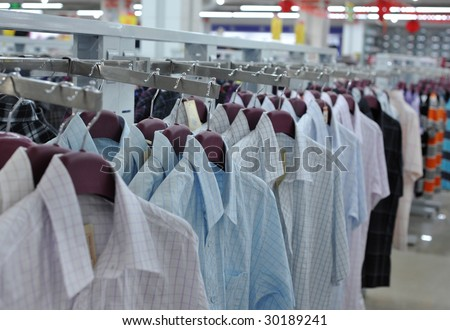Shopping malls selling clothes