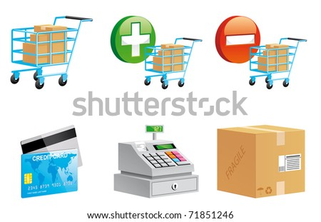 Shopping online icons 3d series