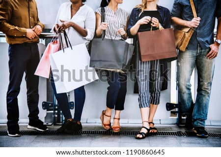Shopping sale sign bags Black Friday lifestyle