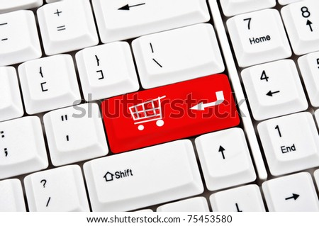 Shopping sign in place of enter key