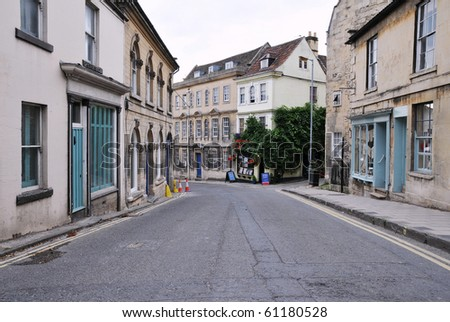 Shopping Street in an English Town