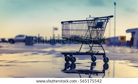 Shopping trolley in vintage style. #565175542