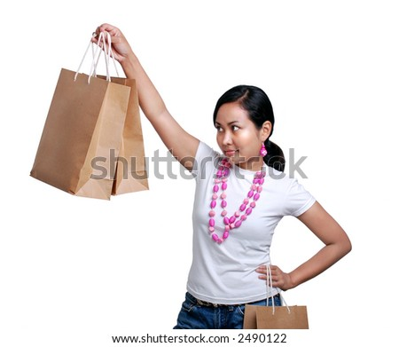 Shopping - women holding a paper bags