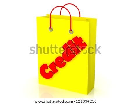 Shopping yellow bag