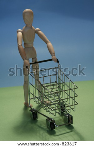 shoppingcart - stock photo