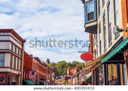 Shops along main street, Galena, Illinois