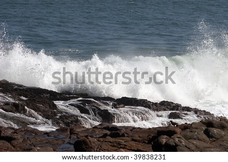 Shore and wave, Chile, Pacific Ocean