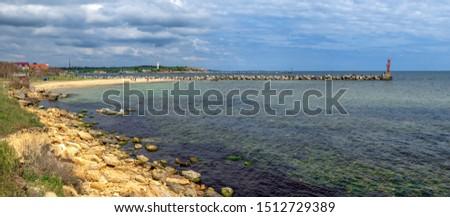 Shore of the Black Sea near the village of Grigoryevka in Odessa region of Odessa, Ukraine #1512729389